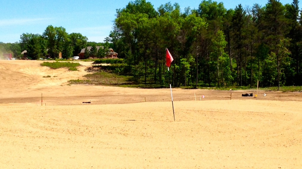 The second (and third) courses at Forest Dunes are starting to take shape.