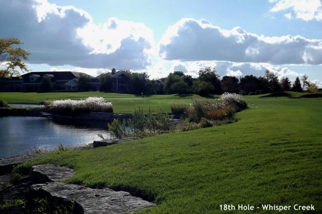 Whisper Creek, Huntley - 18th hole