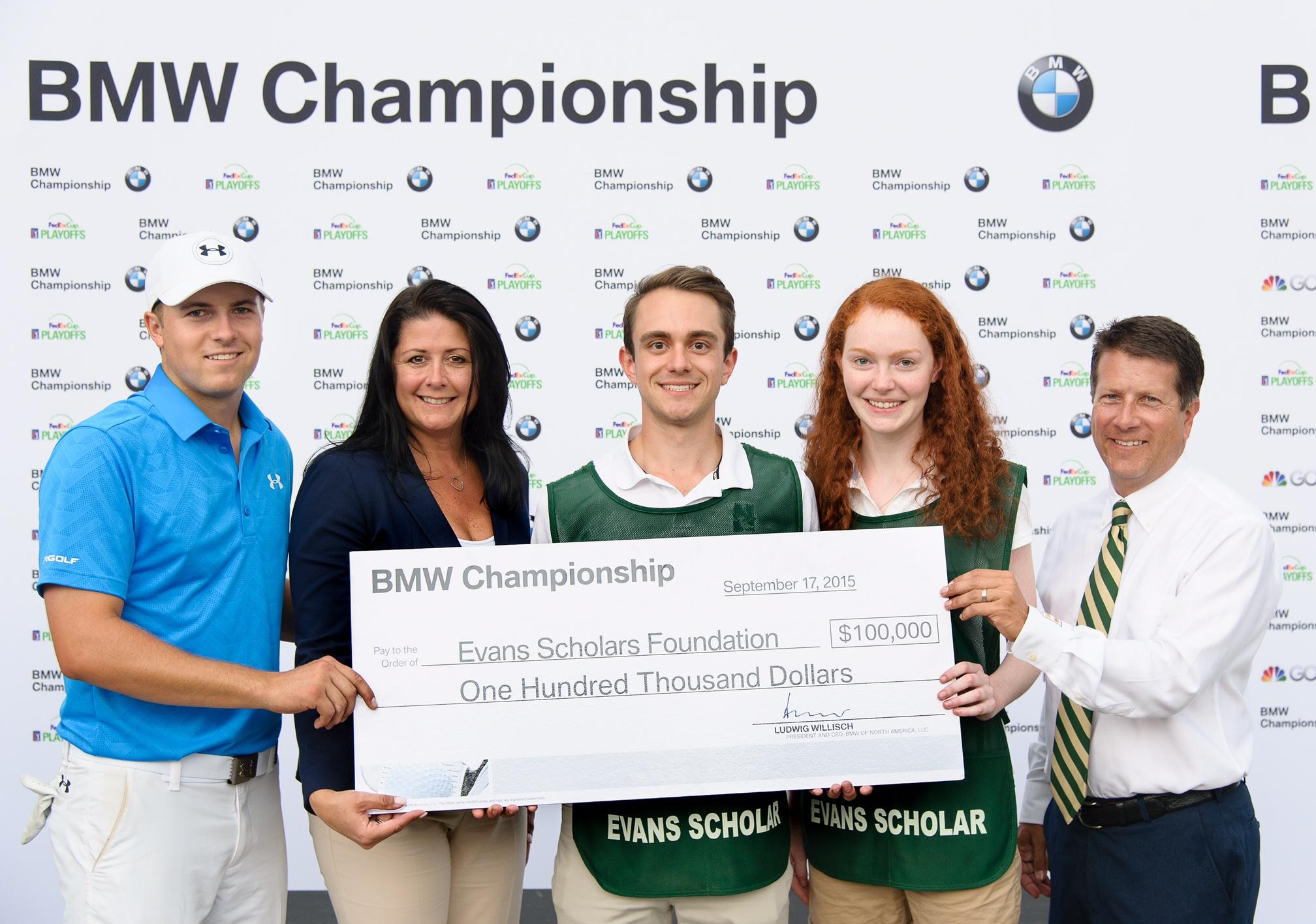 Jordan Spieth Trudy Hardy ESF John Kaczkowski 2015 BMW Championship HIO