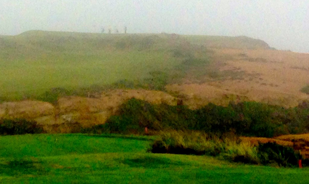 Even on a foggy day the approach to Bandon Dunes' No. 16 hole is definitely memorable.