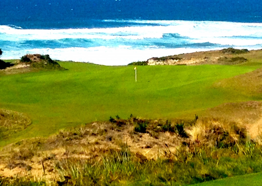You never get tired of ocean-front views, like this one on Bandon's Pacific Dunes course.