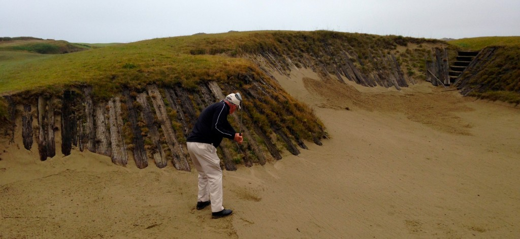 The use of wooden planks gave Old MacDonald's bunkers a distinctive look.