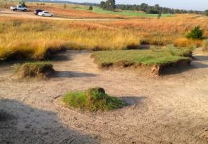 """Blowouts"" give a different look to the bunkers at Prairie Club."