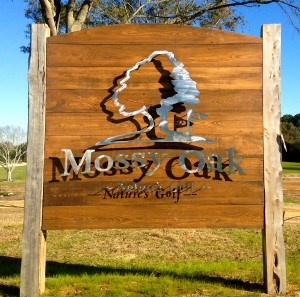 Mossy Oak's welcome sign is already stylish.