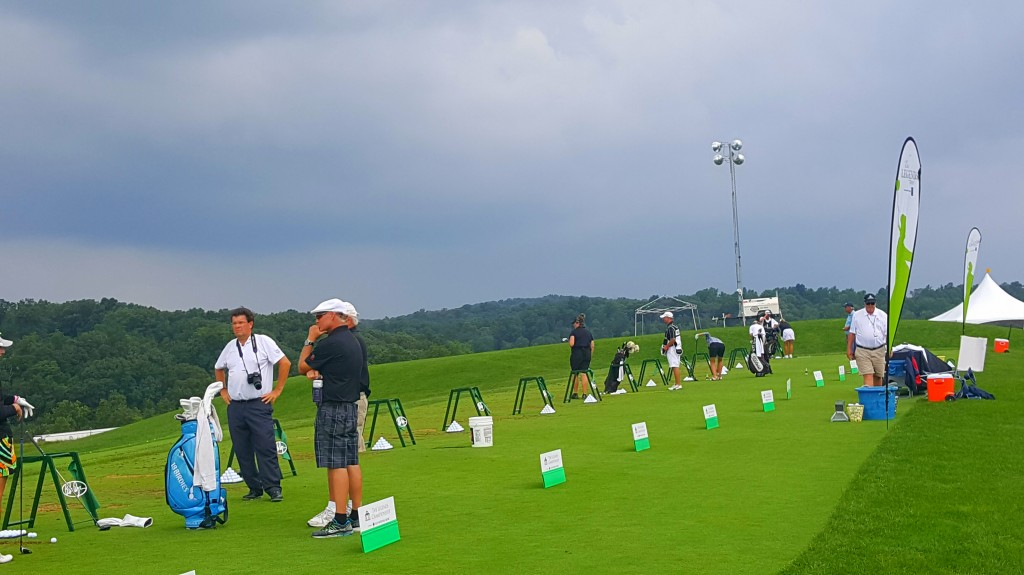 Practicing at The Legends Championship