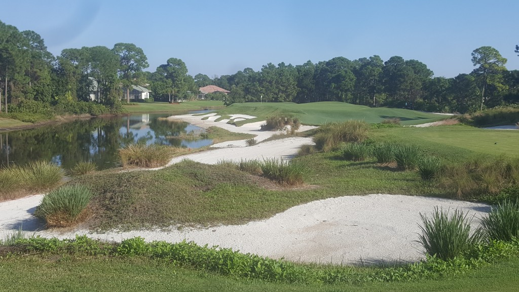 Bunkers at PGA Golf Club Pete Dye course